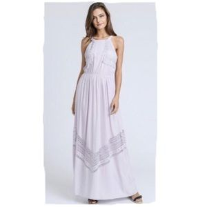 Altar'd State Lace Boho Lilac Halter Maxi Dress